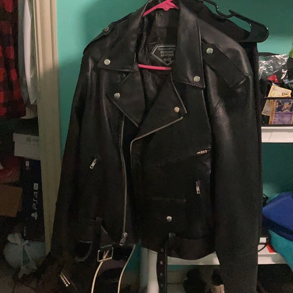 Diamond Plate brand Leather jacket